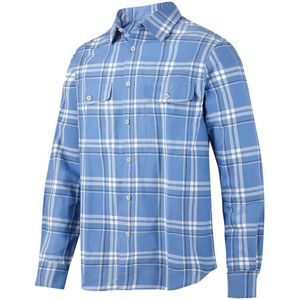 8502 Koszula flanelowa RuffWork (kolor: cloud blue - stalowy) Snickers Workwear